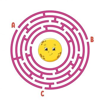 Круг лабиринт. игра для детей. пазл для детей.