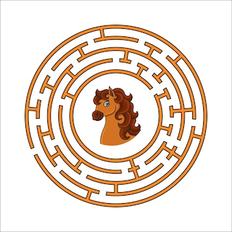 Circle maze game for kids puzzle for children round labyrinth conundrum