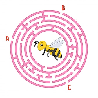 Circle maze. game for kids. puzzle for children.