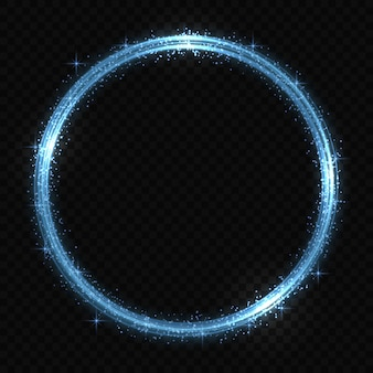 Circle neon light tracing effect