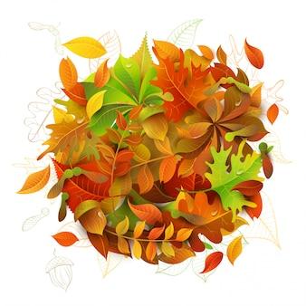 Круг осенних листьев