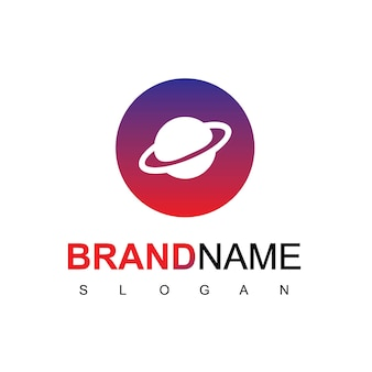 Circle planet logo design inspiration Premium Vector