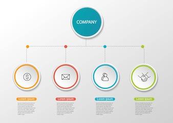 Circle presentation infographic.