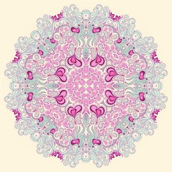 원형 보라색 패턴