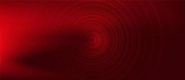 Circle red digital sound wave