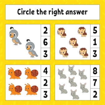 Circle the right answer.