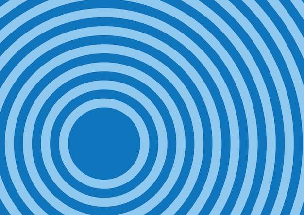 Circle ripple in blue