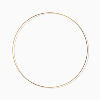 Circle round frame on a blank background vector