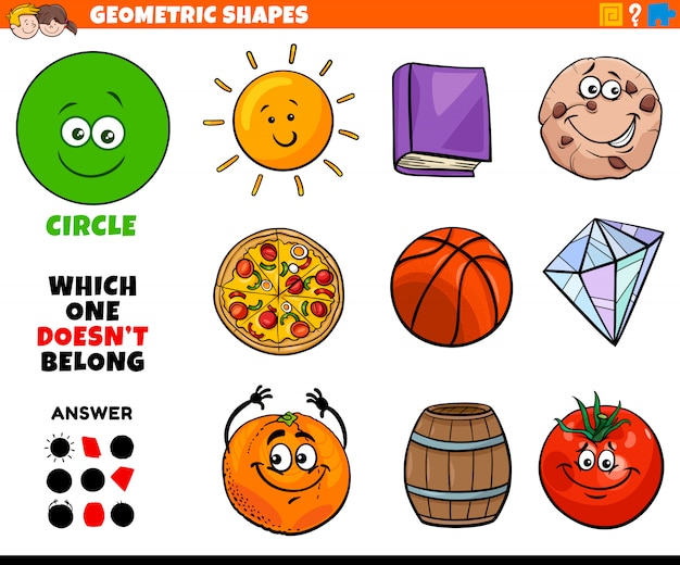 Circle shape educational task for kids