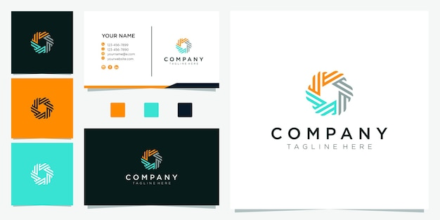 Circle shape logo design. letter e logo inspiration