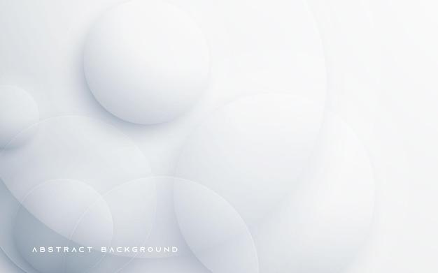 원형 모양 흰색 추상적 인 배경