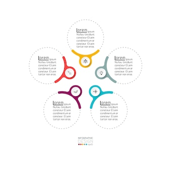 The circle shows the results as a diagram. infographic design.