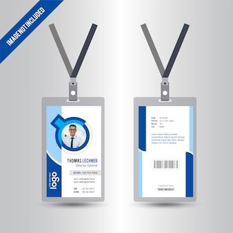 Circle Simple Id card Design Template