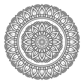 装飾のためのサークルスタイルの曼荼羅イラスト