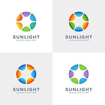 Circle sun logo