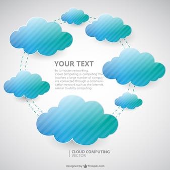 Immagine vettoriale cloud computing
