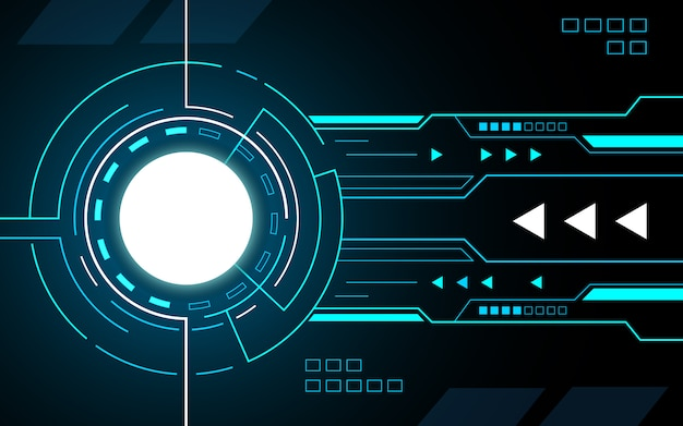 Circle tech interface hud