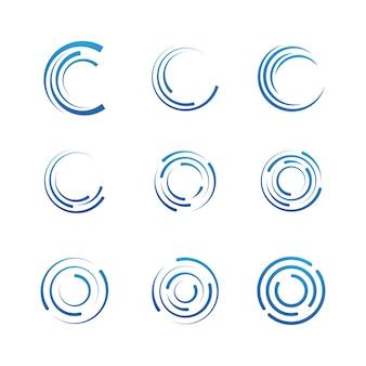 원형 테크노 벡터 아이콘 디자인 서식 파일