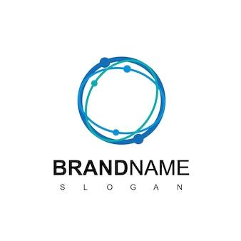 Circle technology logo design template