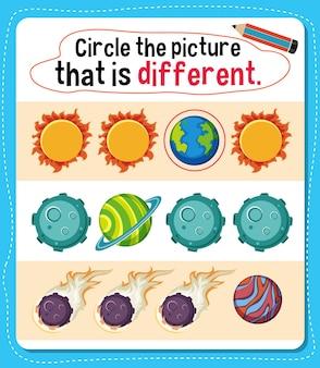 Обведите картинку, которая отличается от занятий для детей