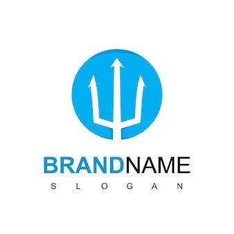 Circle trident logo design inspiration