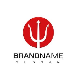 Circle trident logo design template