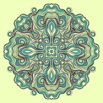 원형 청록색 패턴