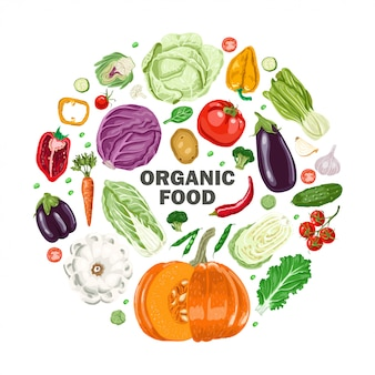 Circle vegetables