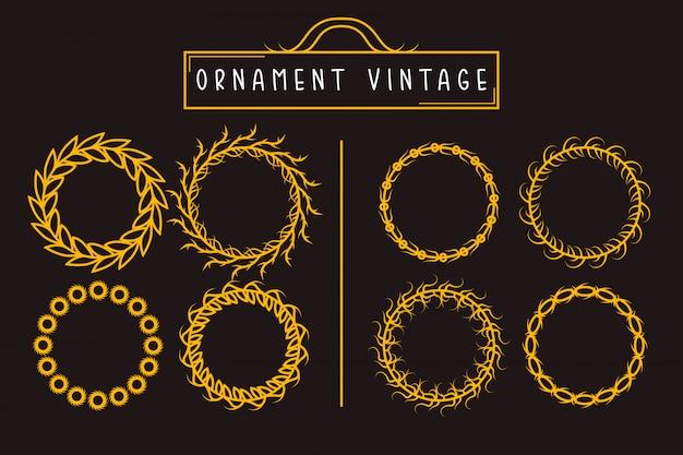 Circle vintage ornament