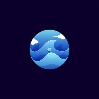 Circle wave logo design