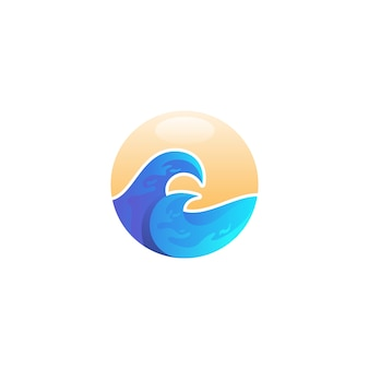 Круг волны логотип