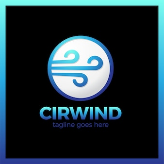 Circle wind wave logotype vector