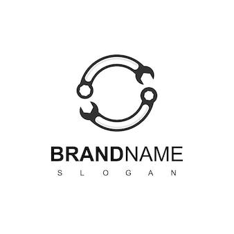 Circle wrench, service logo design inspiration