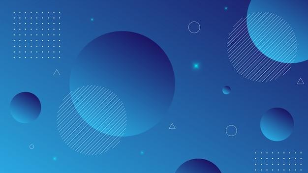 Circle要素を使用したグラデーション色でモダンな抽象的な背景。