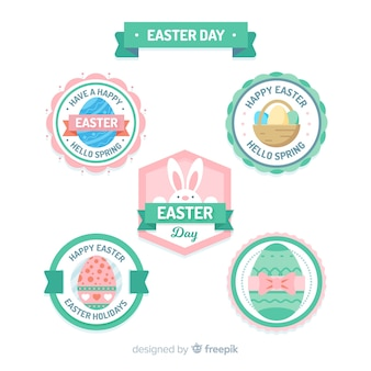 Circled easter day label collection