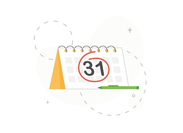 Circled number or date in calendar