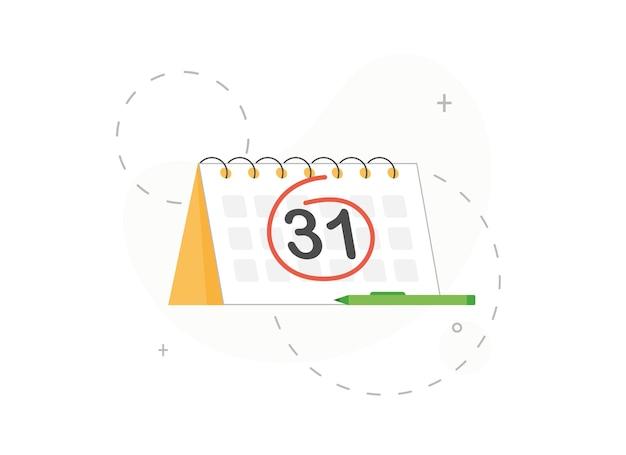 달력에서 동그라미로 표시된 숫자 또는 날짜