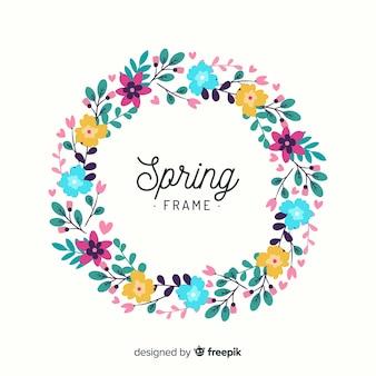 Cornice floreale primavera cerchiata