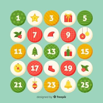Circles advent calendar
