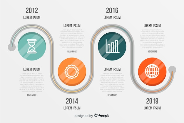 Circles business timeline inforgraphic