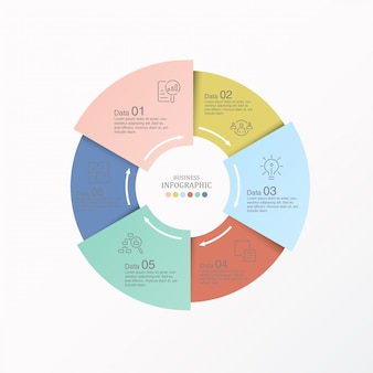 Circles infographics for present business concept.