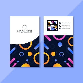 Circles and lines business card template