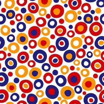 黄色と赤の色のサークルパターン