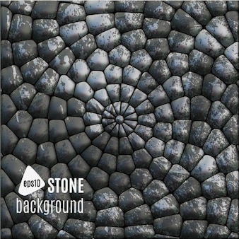 Circles of stones background