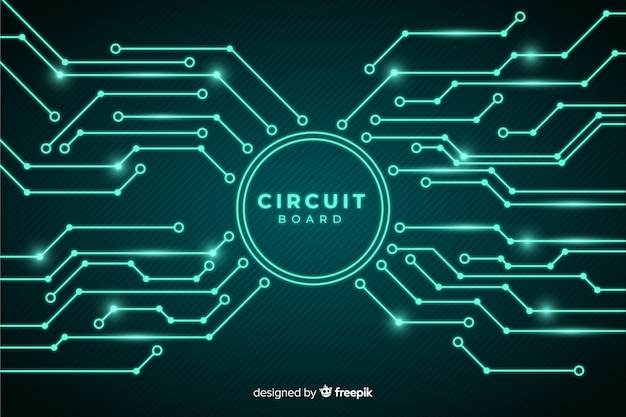 Circuit board background realistic style