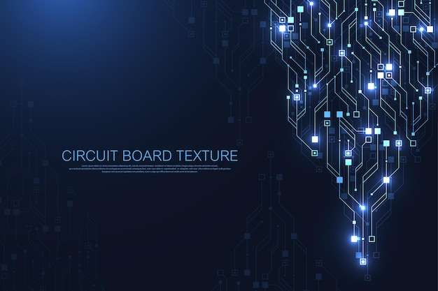 Circuit board design background. abstract communication circuit board technology background