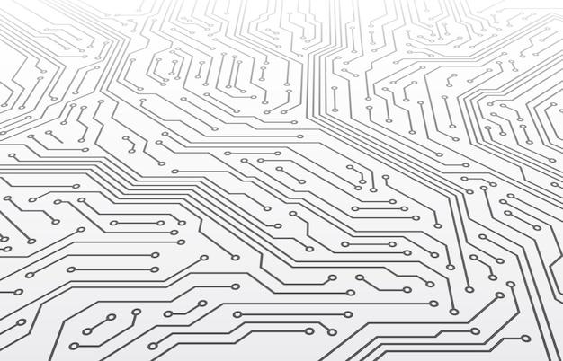 回路基板。パースペクティブのマザーボードスキーム、デジタルマイクロチップコンピュータ技術は3dベクトルテクスチャを抽象化します。電子プロセッサ技術、統合コンピューティング要素の図