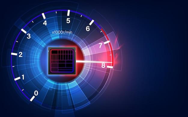 회로 기판. 기술 배경입니다. 중앙 컴퓨터 프로세서 cpu 개념입니다. 마더보드 디지털 칩. 벡터 일러스트 레이 션.