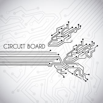 Circuit  board  over vintage background vector illustration