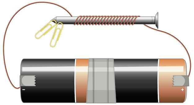 バッテリーとネジの回路図